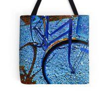 blue bike Tote Bag