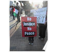 """""""No Justice No Peace"""" Poster"""