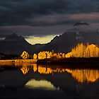 Grand Teton at Dawn of Fall by salim madjd