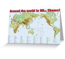 Say Cheers in 80ish languages Greeting Card