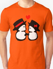 cute snowman couple vector art T-Shirt