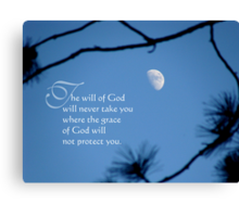 the will of God (for dedmanshootn) Canvas Print