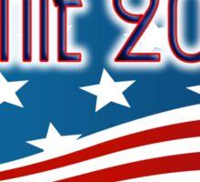 BERNIE 2016 - RED WHITE AND BLUE FLAG - SANDERS FOR PRESIDENT Sticker