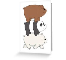 We Bare Bears Bearstack Greeting Card