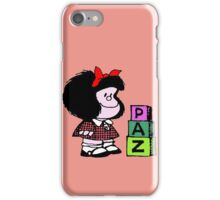 Mafalda paz iPhone Case/Skin