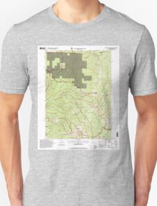 USGS Topo Map California Broken Rib Mountain 100532 1996 24000 T-Shirt