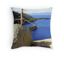 """Lake of the Sky"" Throw Pillow"