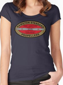 Hamilton Standard Logo Reproduction Women's Fitted Scoop T-Shirt