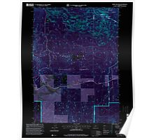 USGS Topo Map Oregon Brown Mountain 279158 1998 24000 Inverted Poster
