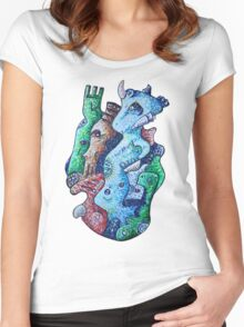 Psychedelic Animals Women's Fitted Scoop T-Shirt