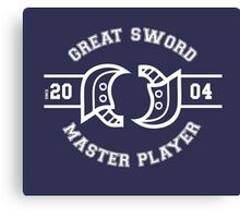 Great Sword - Monster Hunter Canvas Print