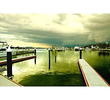 Lakes Entrance on a Stormy Afternoon Photographic Print