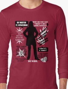 Doctor Who - Donna Noble Quotes Long Sleeve T-Shirt