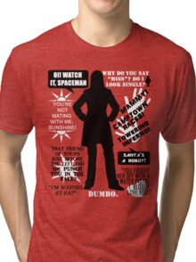 Doctor Who - Donna Noble Quotes Tri-blend T-Shirt