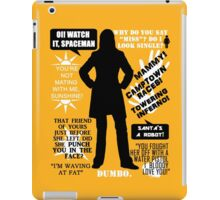 Doctor Who - Donna Noble Quotes iPad Case/Skin