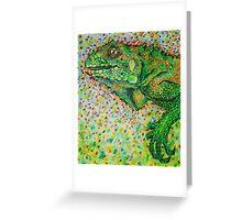Iggy the Iguana Greeting Card