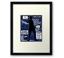 Doctor Who - 12th Doctor Quotes Framed Print