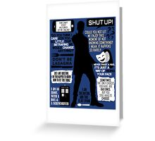 Doctor Who - 12th Doctor Quotes Greeting Card
