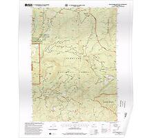 USGS Topo Map Oregon Quail Prairie Mountain 281191 1998 24000 Poster