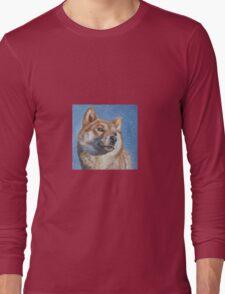 Shiba Inu Fine Art Painting Long Sleeve T-Shirt