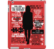 Doctor Who - Clara (Oswin) Oswald Quotes iPad Case/Skin
