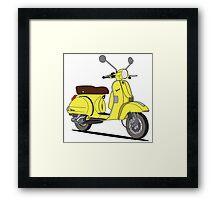 Vespa PX 150 Yellow Framed Print
