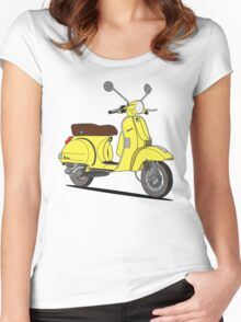 Vespa PX 150 Yellow Women's Fitted Scoop T-Shirt