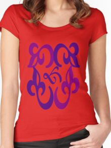 Unique pattern Women's Fitted Scoop T-Shirt