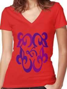 Unique pattern Women's Fitted V-Neck T-Shirt