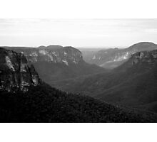 Black & White Blue Mountains Photographic Print