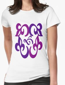 Unique colorful pattern Womens Fitted T-Shirt