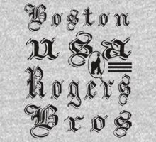 usa boston, ma tshirt by rogers bros T-Shirt