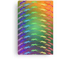 Rainbow Geckos Canvas Print