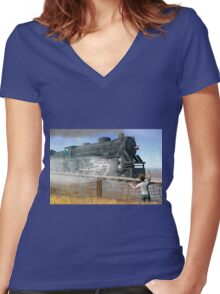 Rite of passage Women's Fitted V-Neck T-Shirt