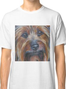 Silky Terrier Fine Art Painting Classic T-Shirt