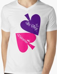 Be My Valentine. Mens V-Neck T-Shirt