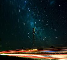 Passing Traffic- Star Trail by Murray Wills