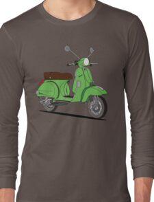 Vespa PX Green Long Sleeve T-Shirt