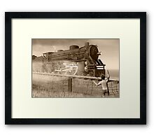 Rite of passage in sepia Framed Print