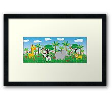 Animals in the Jungle Framed Print