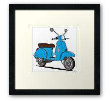 Vespa PX 150 Blue Framed Print