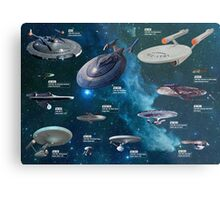 Star Trek Enterpries (All) Metal Print
