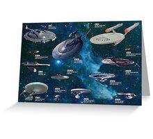Star Trek Enterpries (All) Greeting Card