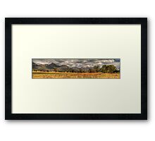 Capertee Magic (Panoramic)  - Capertee Valley, NSW Australia - The HDR Experience Framed Print