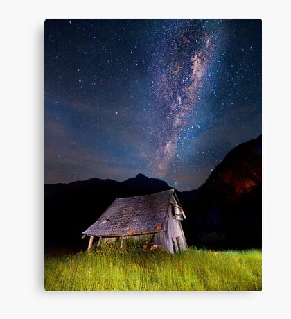 The barn at the end of the universe Canvas Print