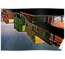 Canal Reflections Burano Poster