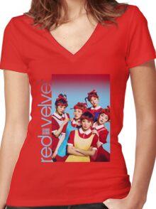 Red Velvet Dumb Dumb Women's Fitted V-Neck T-Shirt