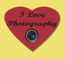 I Love Photography Shirt and Sticker One Piece - Short Sleeve