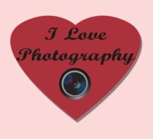 I Love Photography Shirt and Sticker Baby Tee