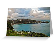 Coastal Landscape - Le Petit Port Guernsey Greeting Card